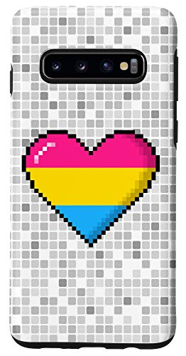 Galaxy S10 Pansexual Pride 8-Bit Pixel Heart Case