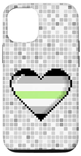 iPhone 12/12 Pro Agender Pride 8-Bit Pixel Heart Case