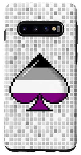 Galaxy S10 Asexual Pride Flag Pixel 8-Bit Ace Case