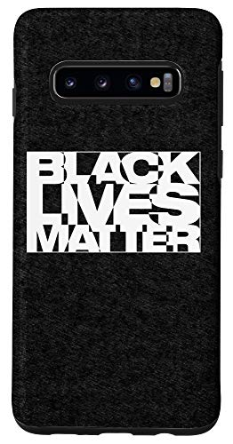 Galaxy S10 Black Live Matter Chaotic Typography Case