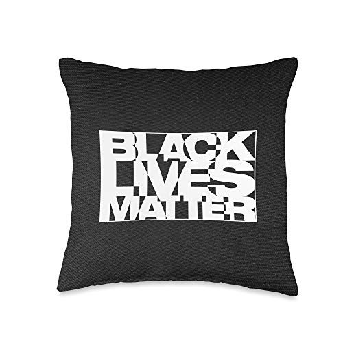 Whee! Design Black Live Matter Chaotic Typography Throw Pillow, 16x16, Multicolor