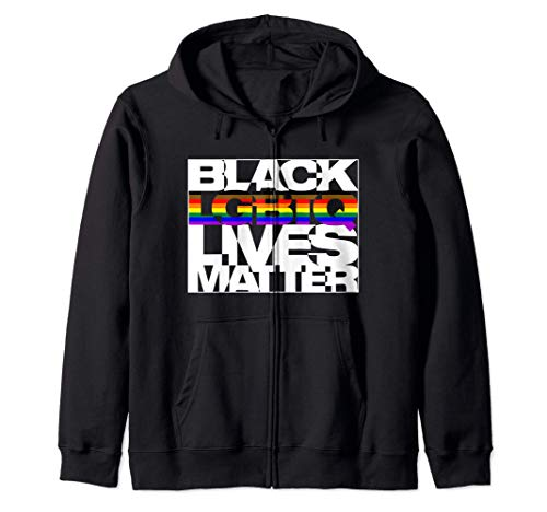 Black LGBTQ Lives Matter - Philly Pride Flag Zip Hoodie