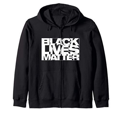 Black Live Matter Chaotic Typography Zip Hoodie