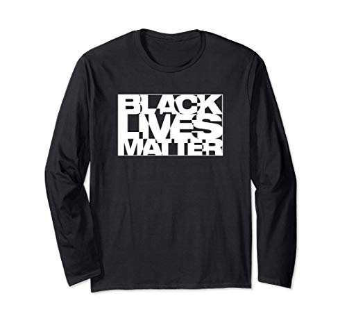 Black Live Matter Chaotic Typography Long Sleeve T-Shirt
