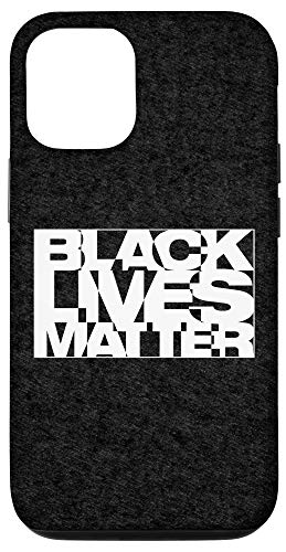 iPhone 12/12 Pro Black Live Matter Chaotic Typography Case