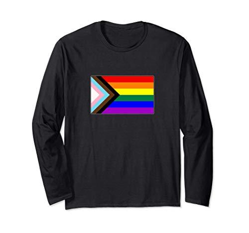 Progress LGBTQ Gay Pride Flag Long Sleeve T-Shirt