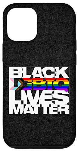 iPhone 12/12 Pro Black LGBTQ Lives Matter - Progress Pride Flag Case
