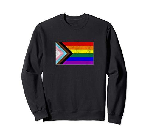 Distressed Progress LGBTQ Pride Flag Sweatshirt