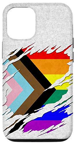 iPhone 12/12 Pro LGBTQ Progress Pride Flag Ripped Reveal Case
