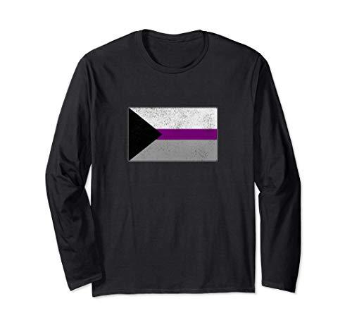 Distressed Demisexual Pride Flag Long Sleeve T-Shirt