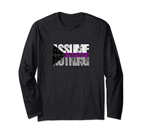 Assume Nothing Demisexual Pride Long Sleeve T-Shirt