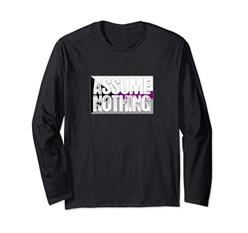 Assume Nothing Demisexual Pride Flag Long Sleeve T-Shirt
