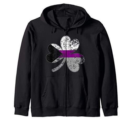 Demisexual Shamrock Pride Flag Zip Hoodie