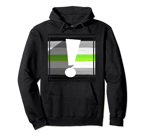 Agender Pride Flag Exclamation Point Shadow Pullover Hoodie