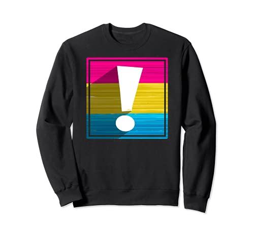 Pansexual Pride Flag Exclamation Point Shadow Sweatshirt