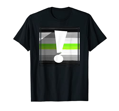 Agender Pride Flag Exclamation Point Shadow T-Shirt