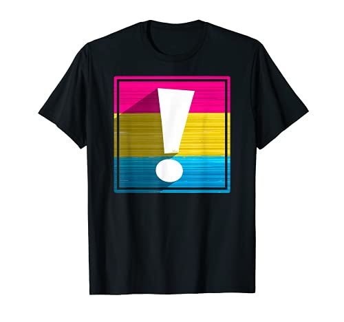 Pansexual Pride Flag Exclamation Point Shadow T-Shirt