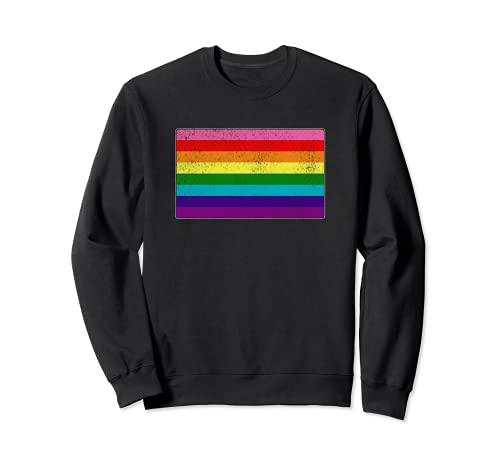 Distressed Original LGBT Gay Pride Flag Sweatshirt