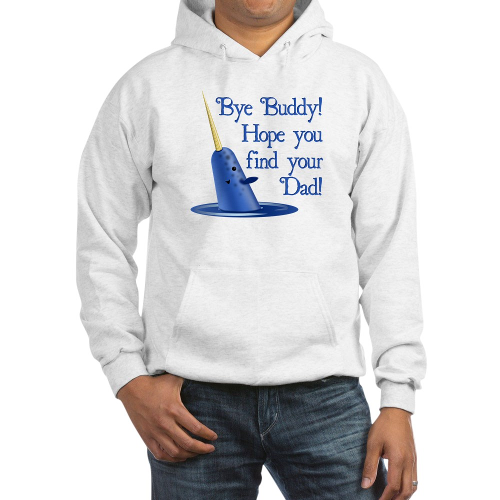 Mr. Narwhal Quote from Elf Hooded Sweatshirt
