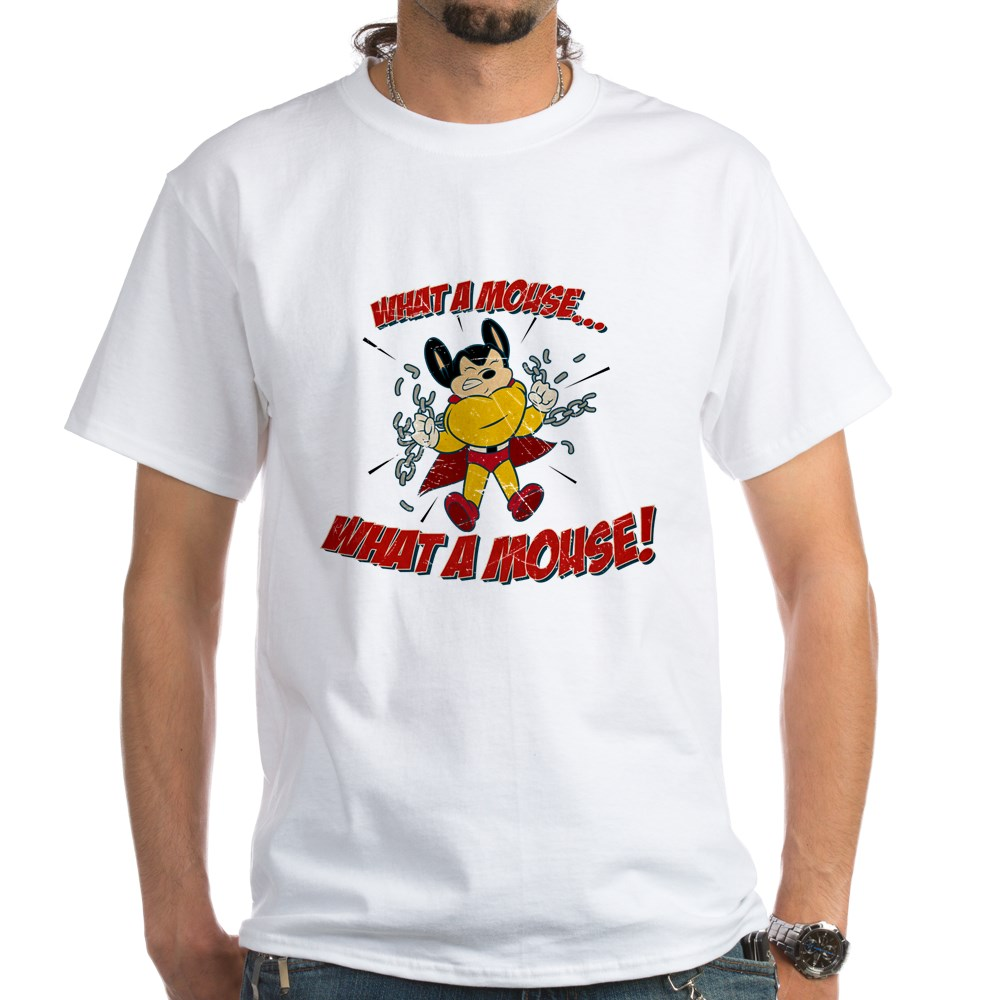 Mighty Mouse - What a Mouse! White T-Shirt