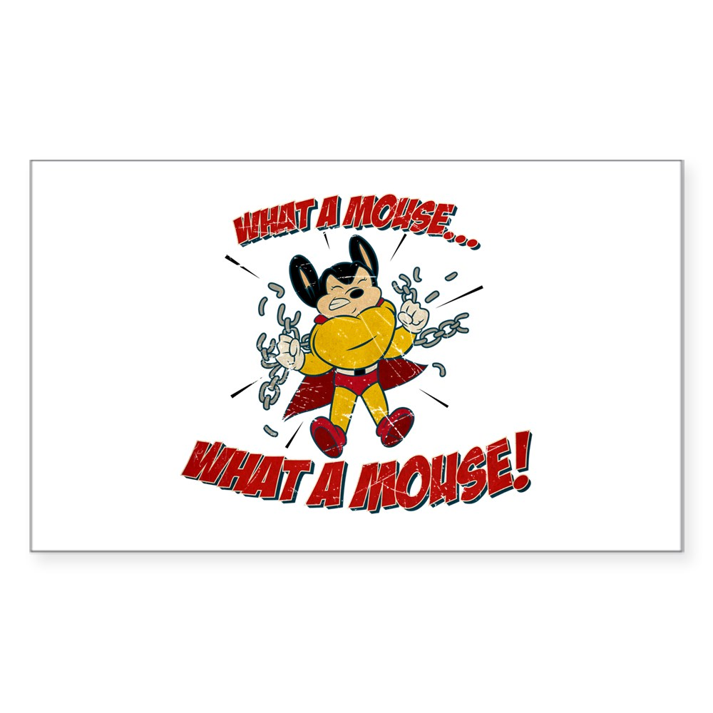 Mighty Mouse - What a Mouse! Rectangle Sticker