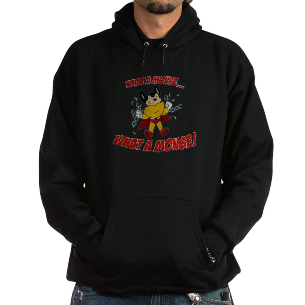 Mighty Mouse - What a Mouse! Dark Hoodie