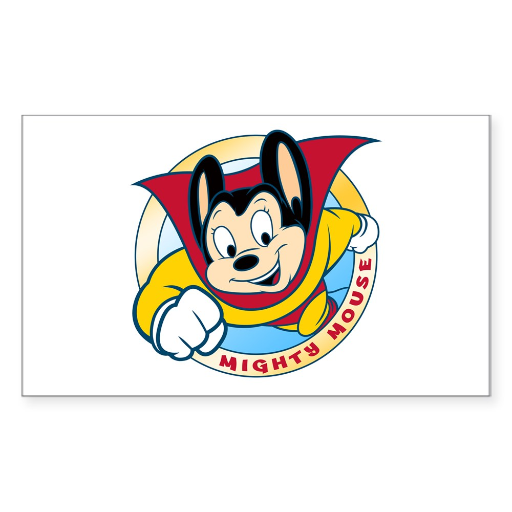 Mighty Mouse Rectangle Sticker