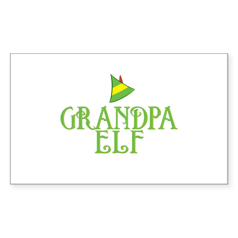 Grandpa Elf Rectangle Sticker