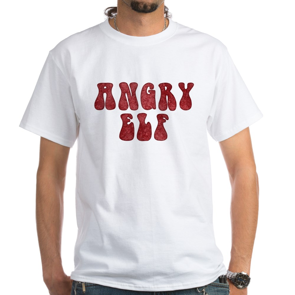 Angry Elf White T-Shirt