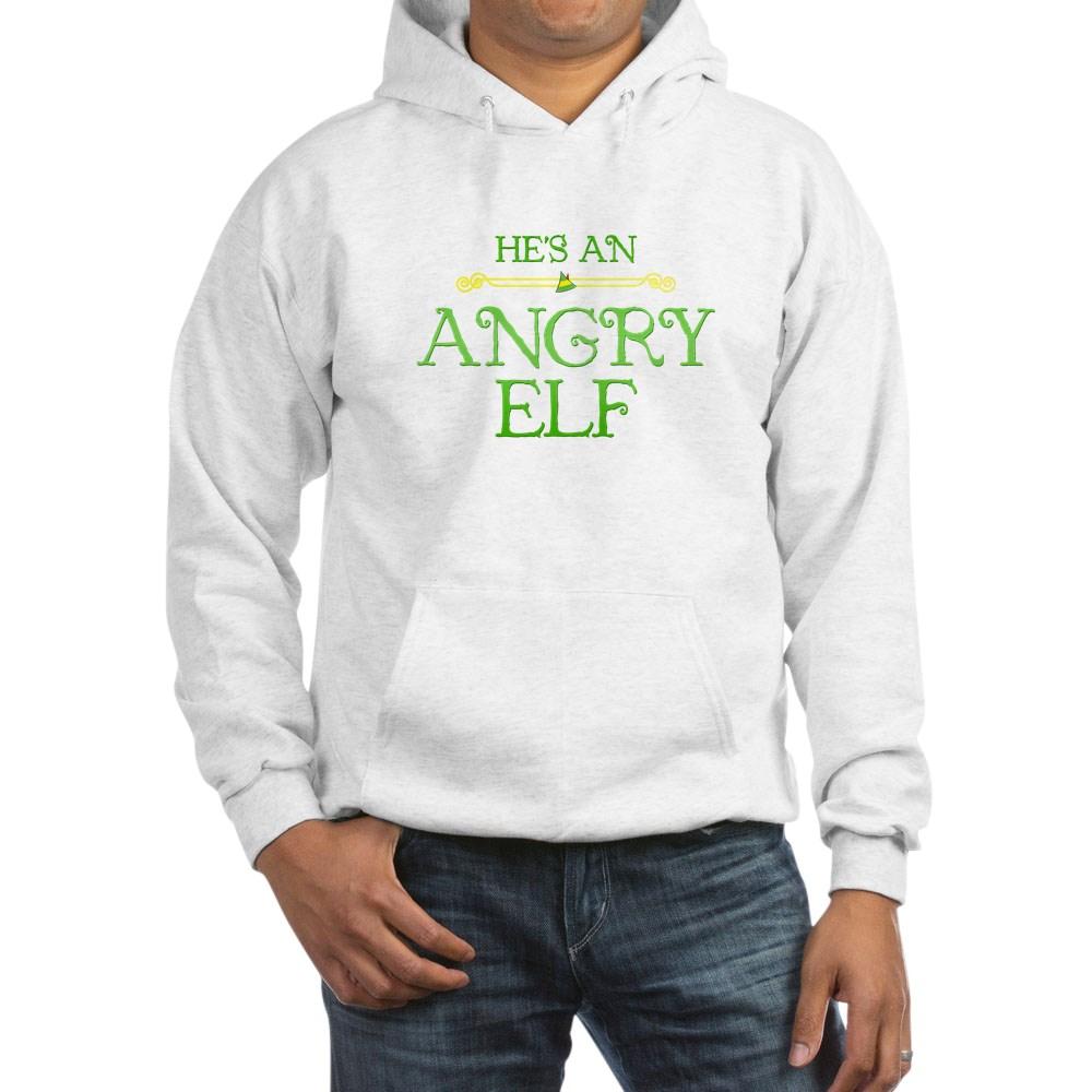 He's an Angry Elf Hooded Sweatshirt