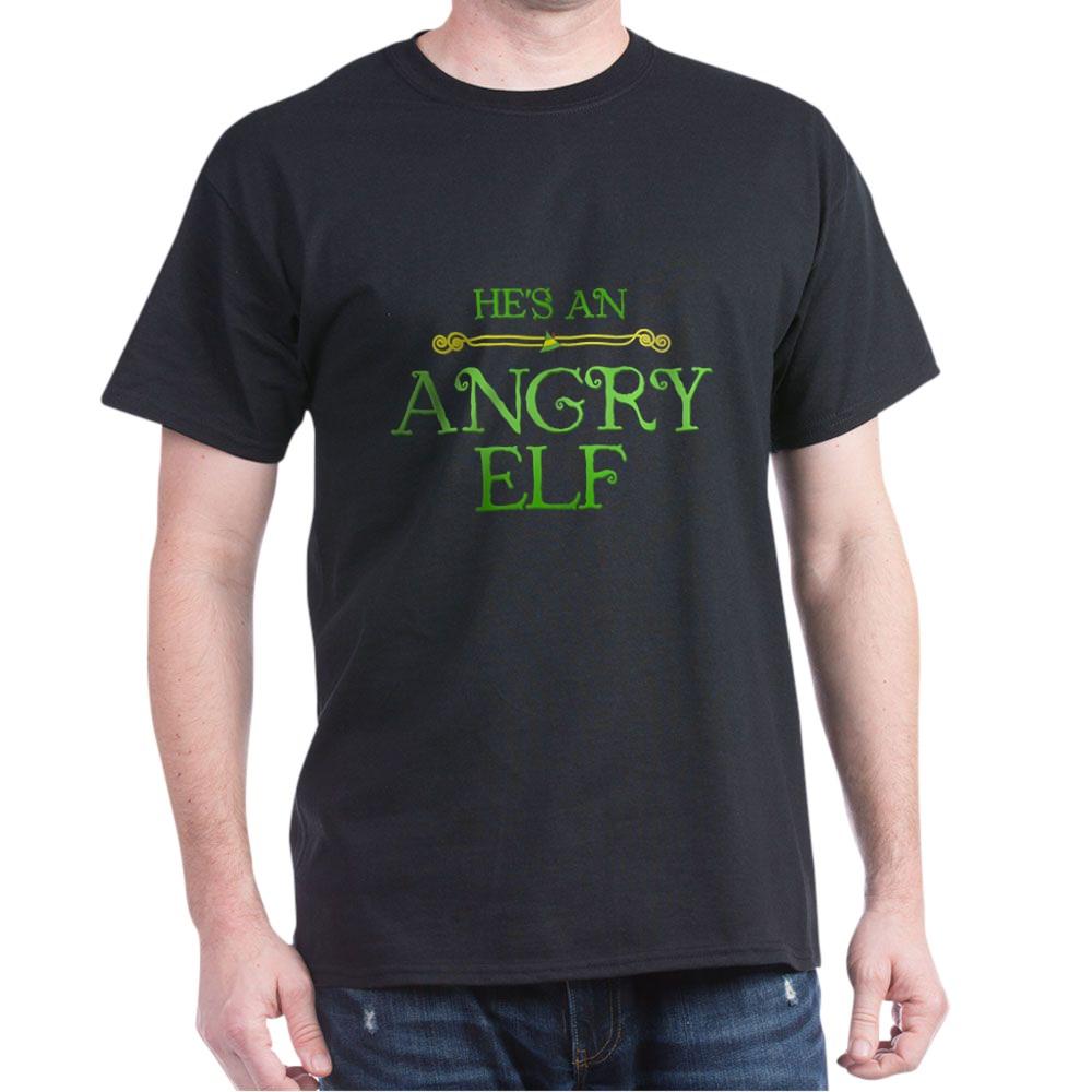 He's an Angry Elf Dark T-Shirt