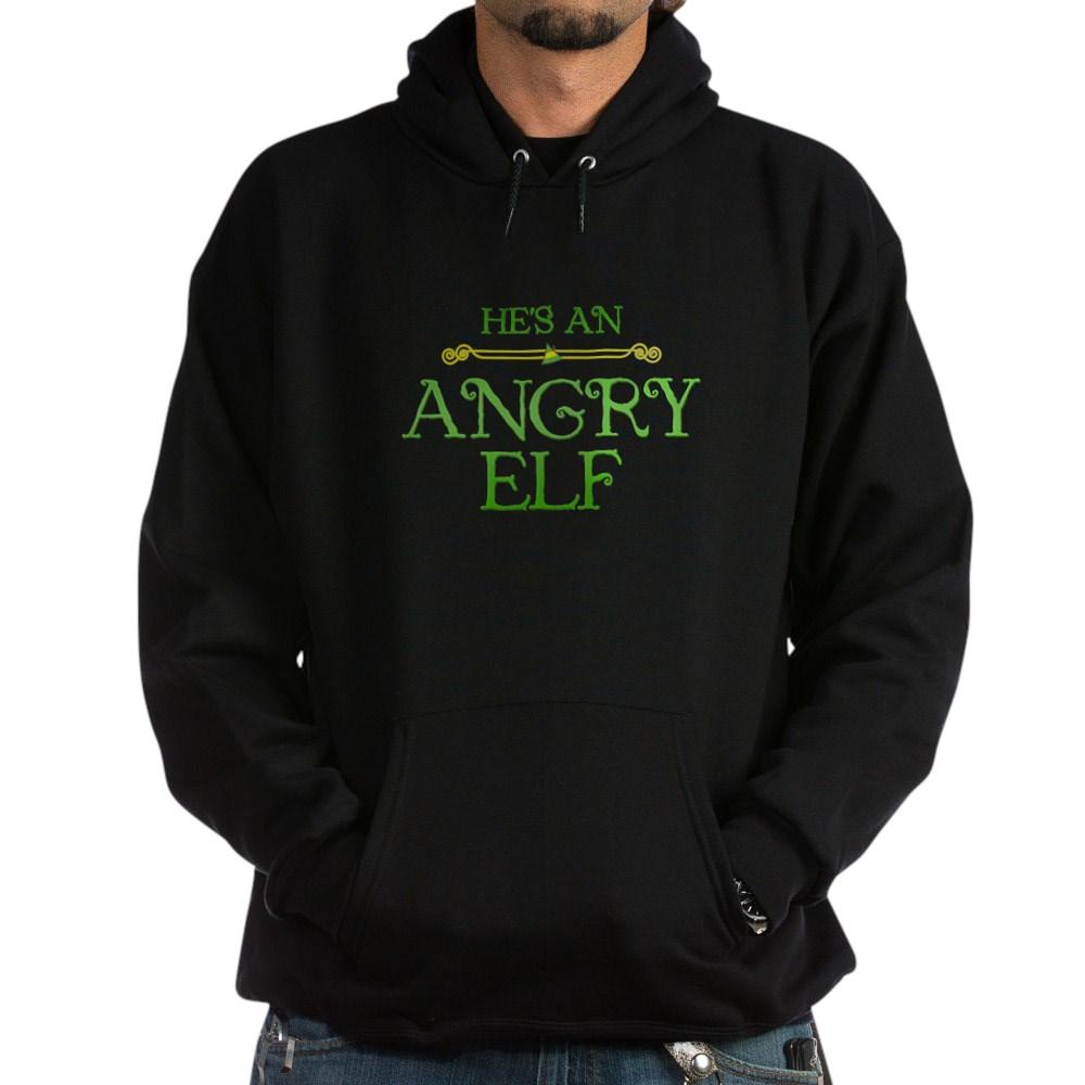 He's an Angry Elf Dark Hoodie