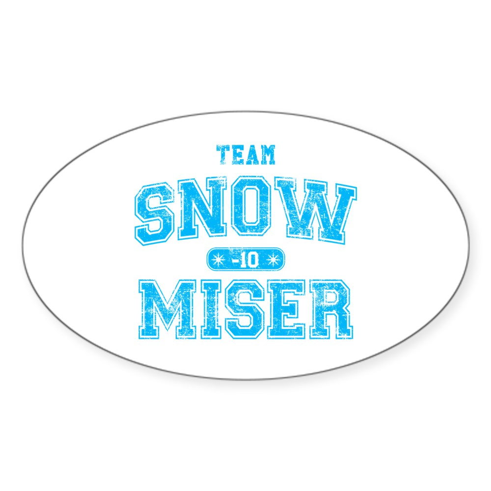 Team Snow Miser Oval Sticker