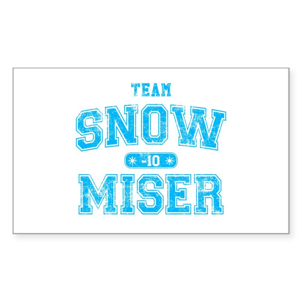 Team Snow Miser Rectangle Sticker