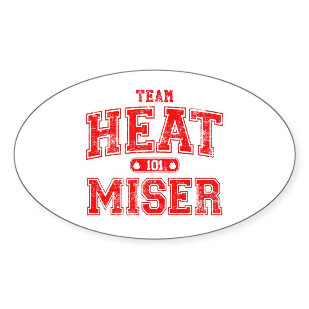 Team Heat Miser Oval Sticker