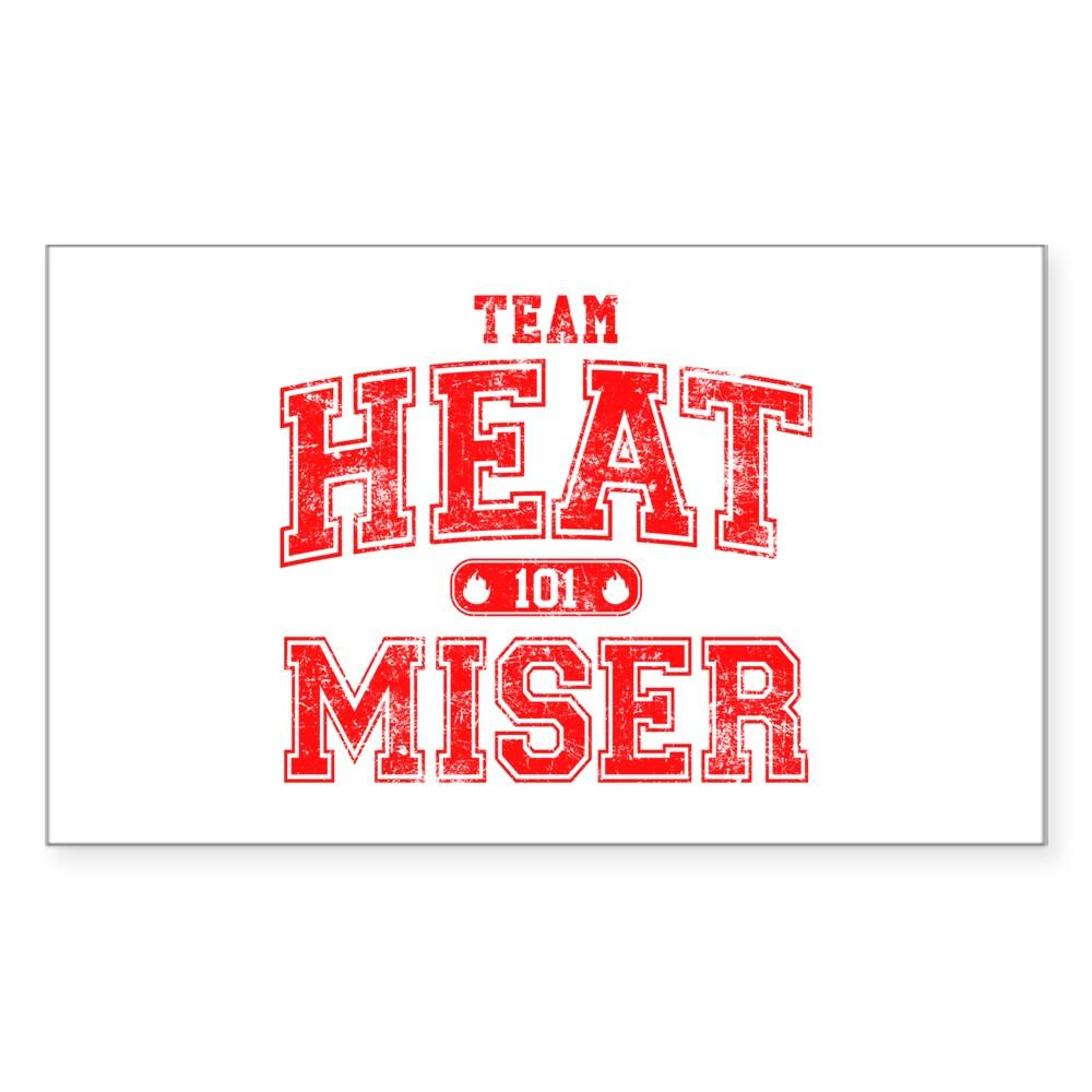 Team Heat Miser Rectangle Sticker