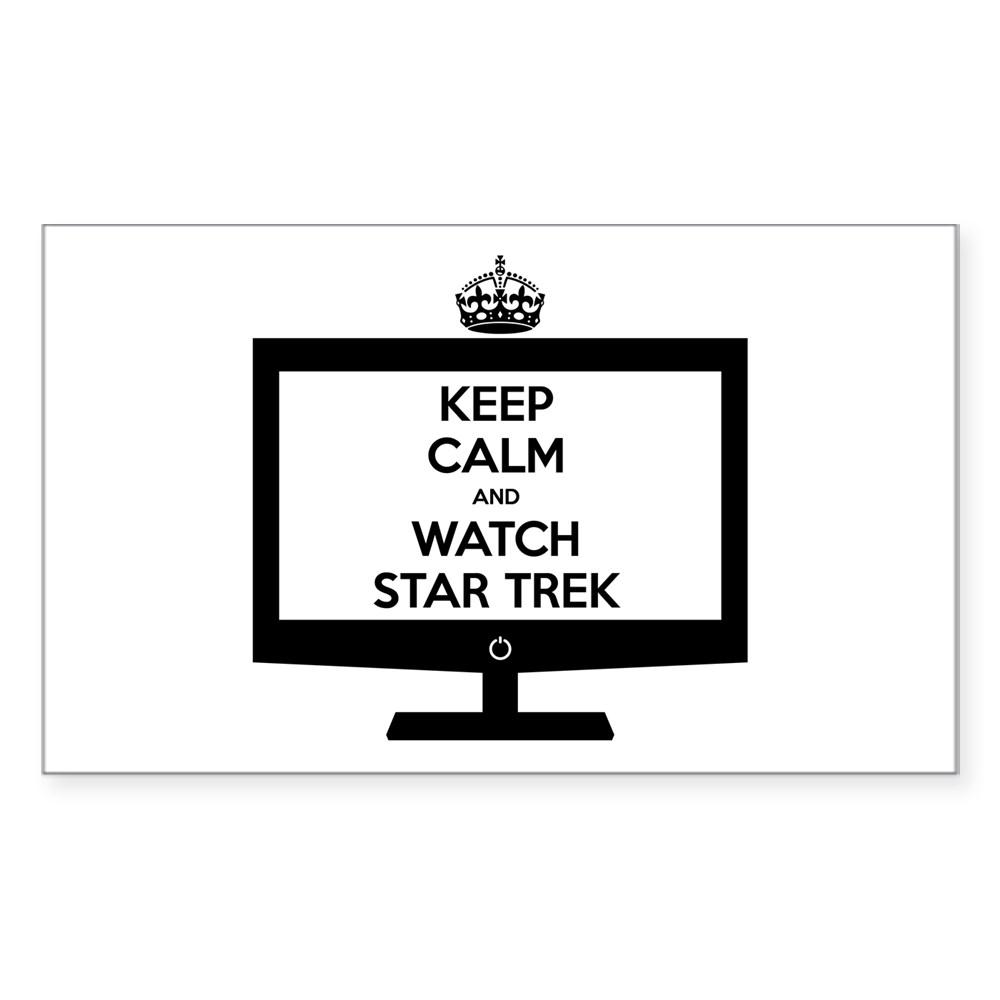 Keep Calm and Watch Star Trek Rectangle Sticker