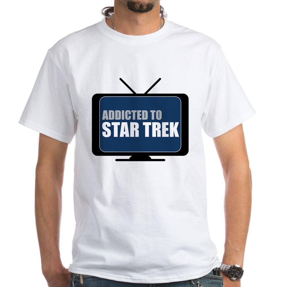 Addicted to Star Trek White T-Shirt