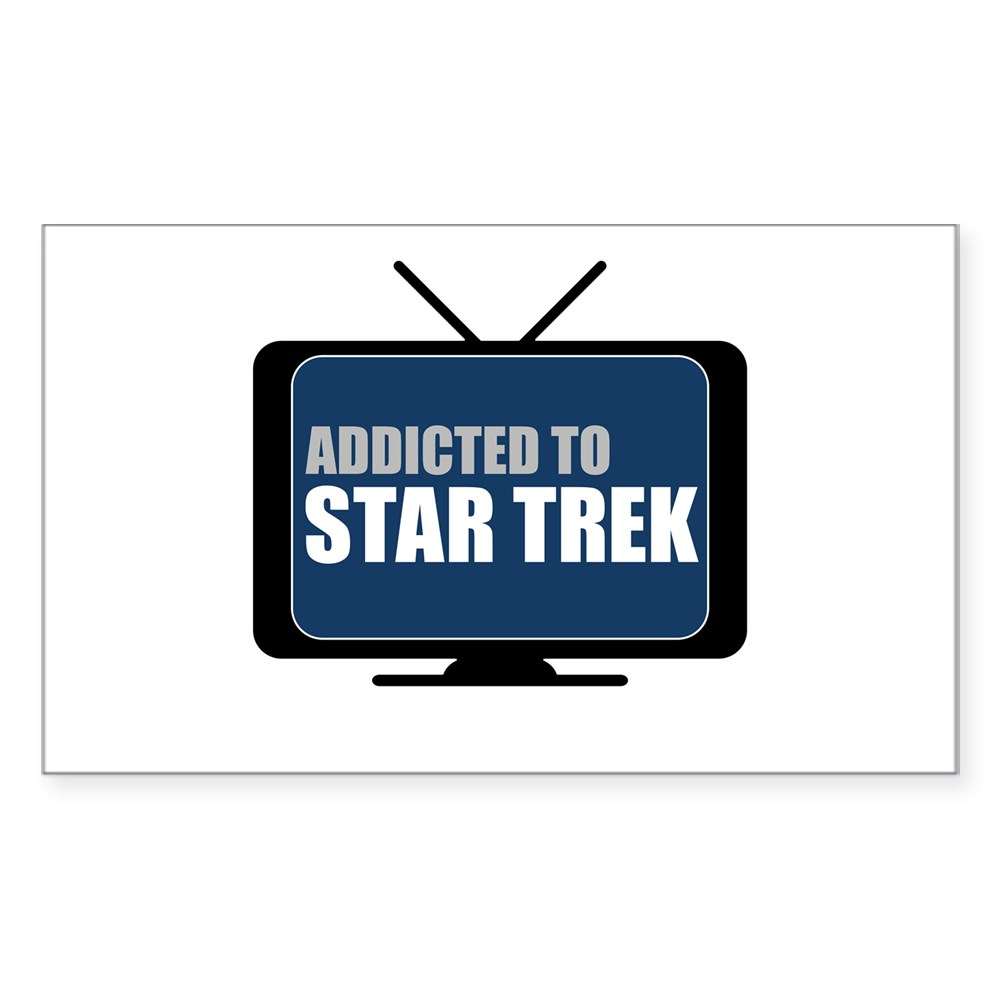 Addicted to Star Trek Rectangle Sticker