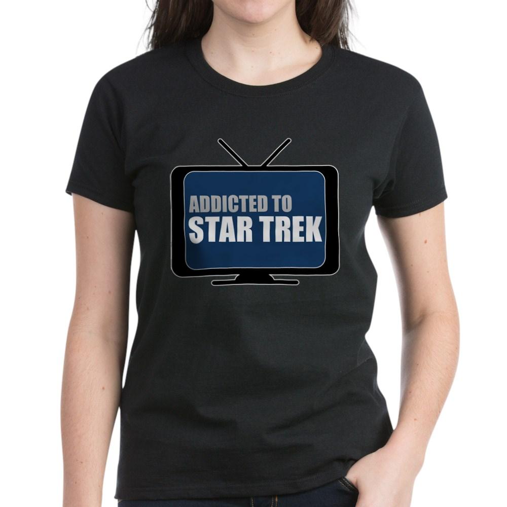 Addicted to Star Trek Women's Dark T-Shirt