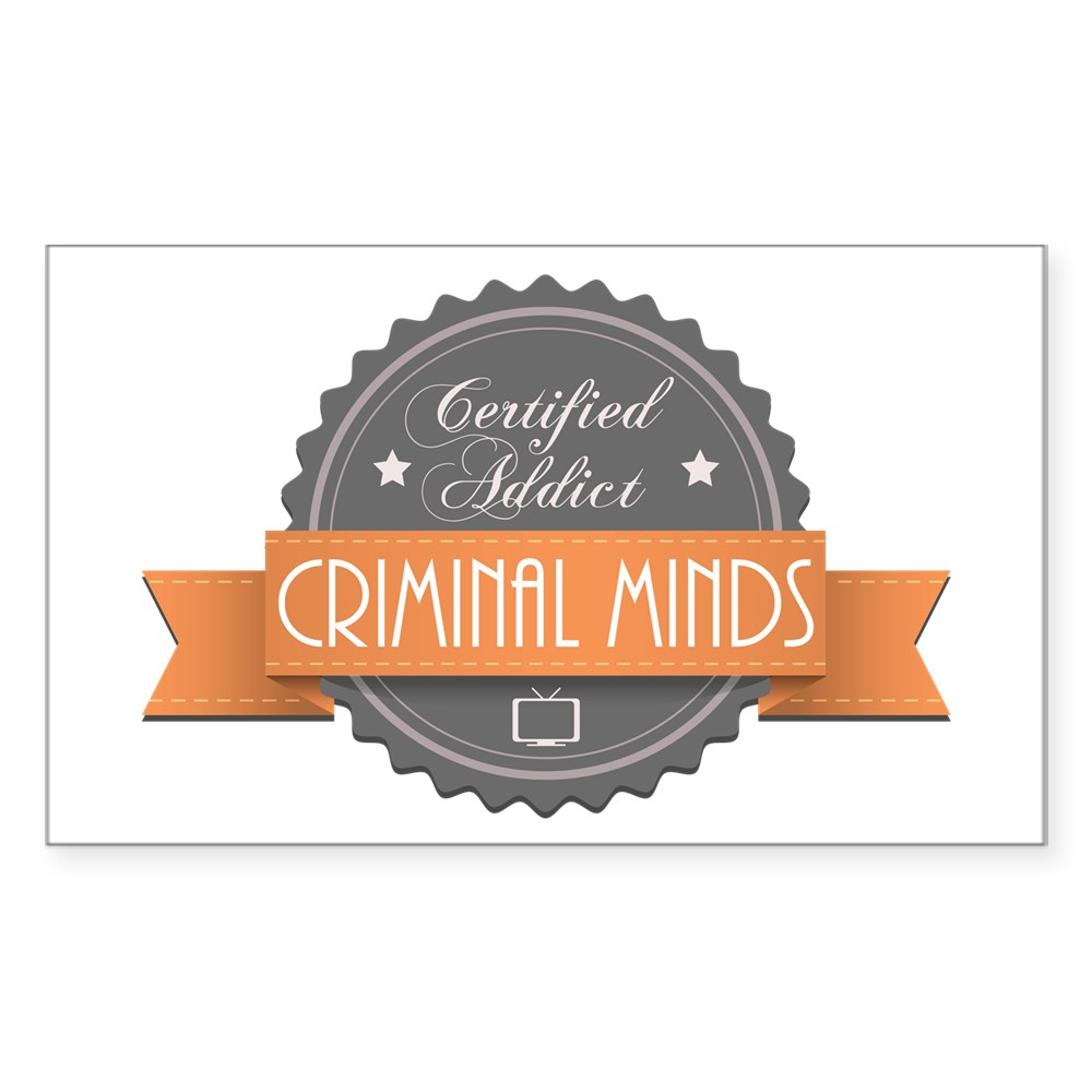Certified Addict: Criminal Minds Rectangle Sticker