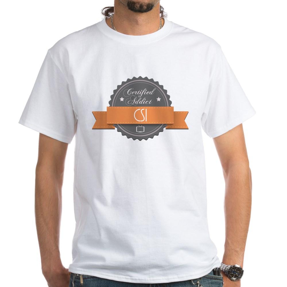Certified Addict: CSI White T-Shirt