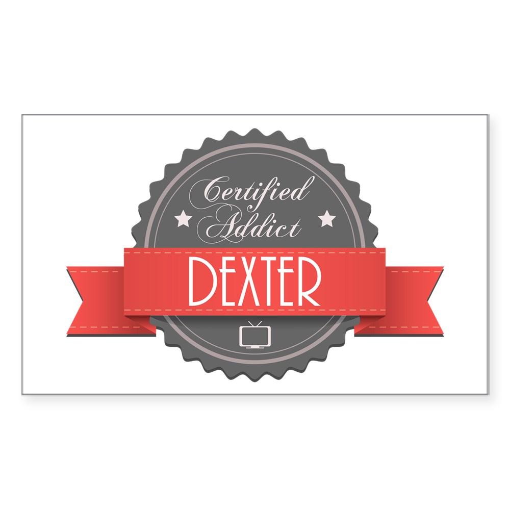 Certified Addict: Dexter Rectangle Sticker