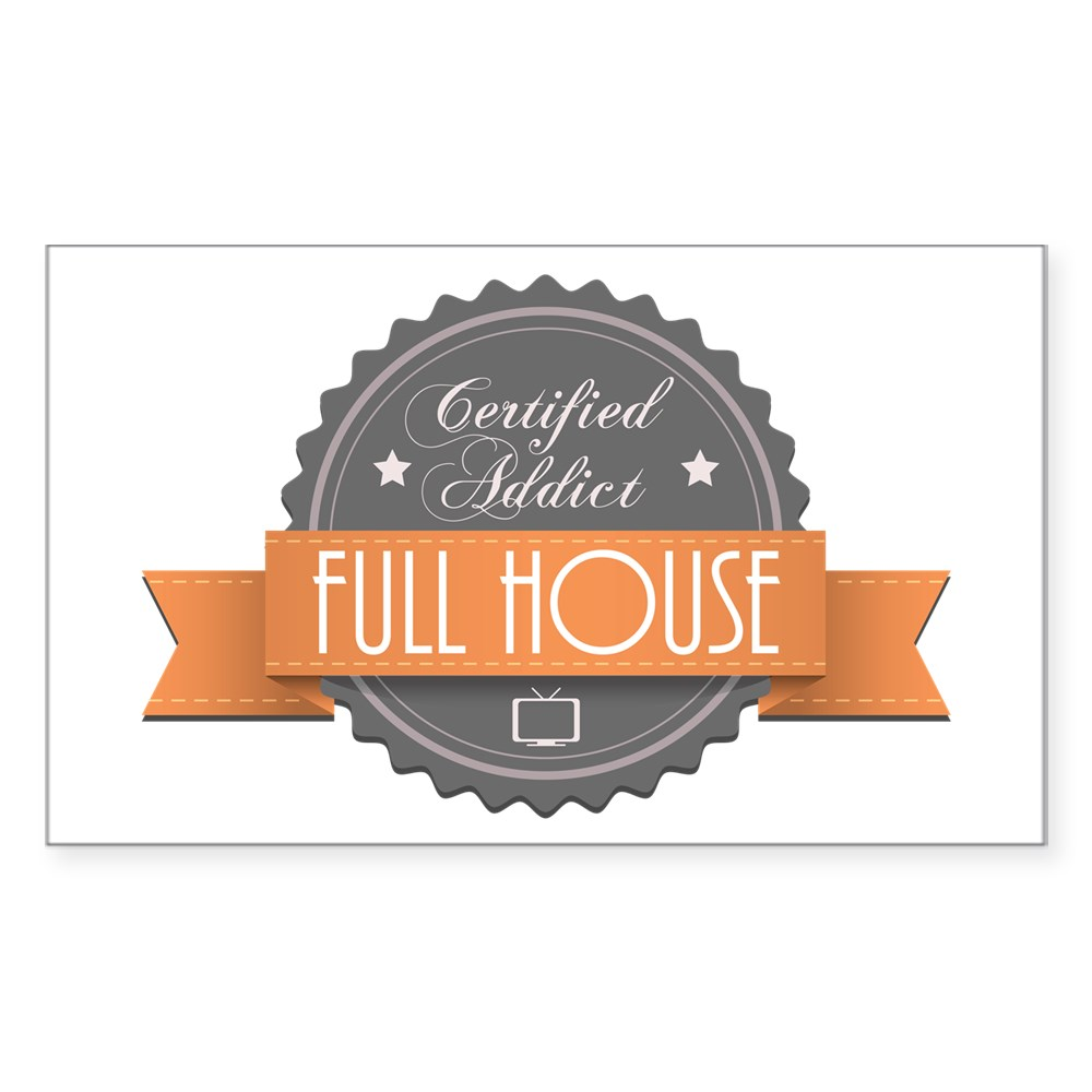 Certified Addict: Full House Rectangle Sticker