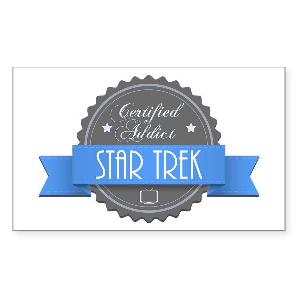 Certified Addict: Star Trek Rectangle Sticker