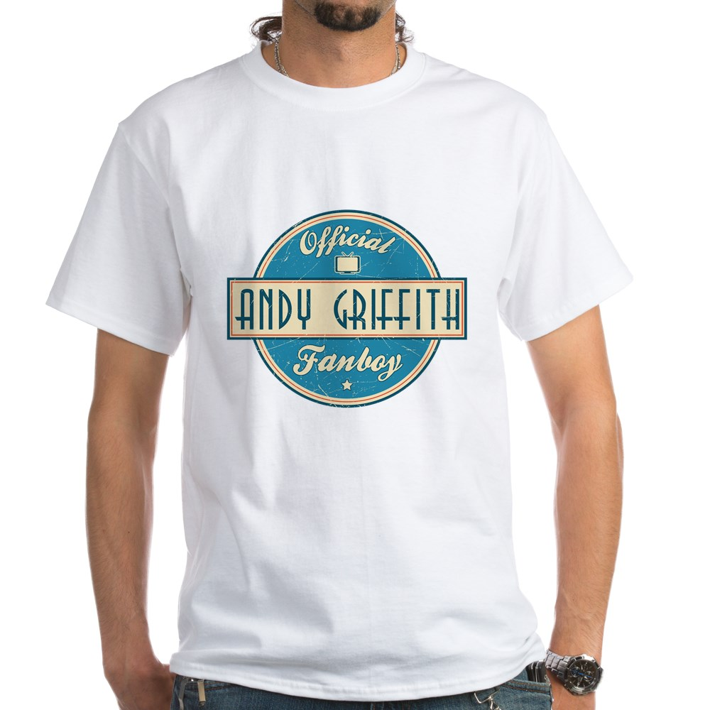 Official Andy Griffith Fanboy White T-Shirt