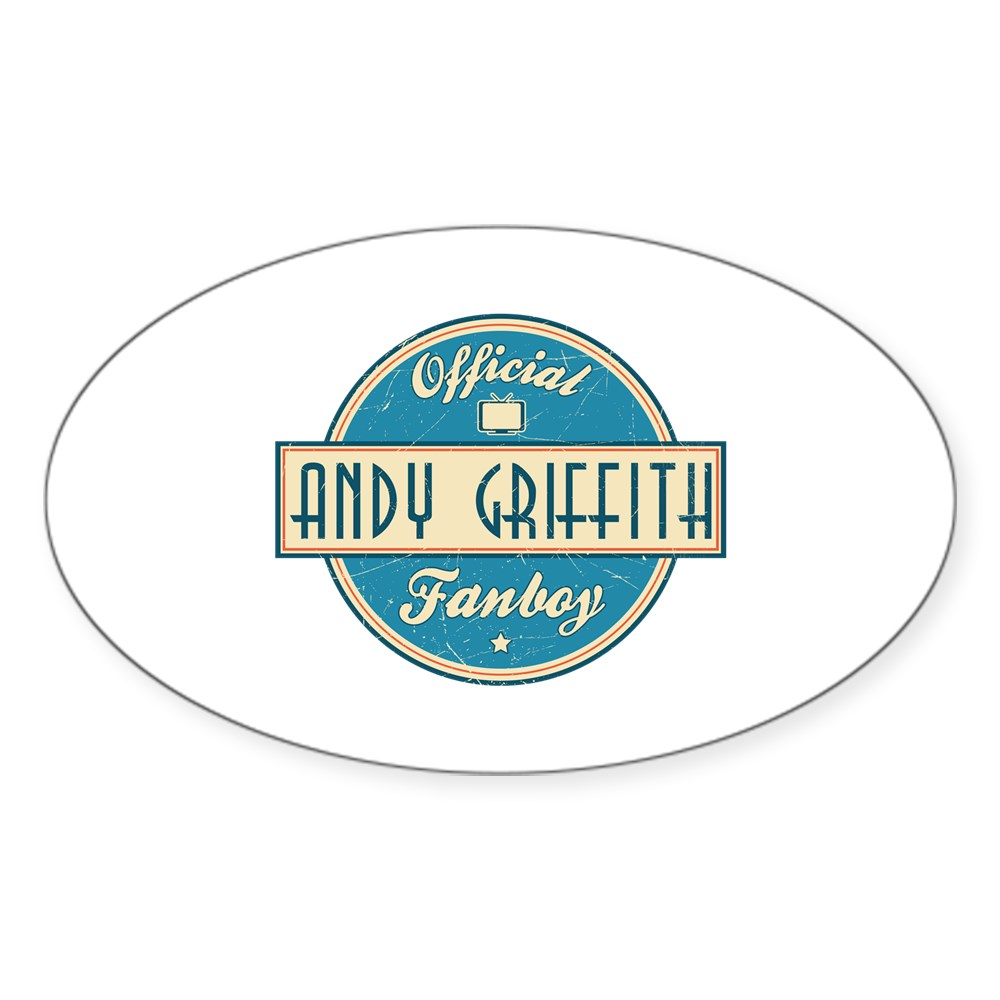 Official Andy Griffith Fanboy Oval Sticker