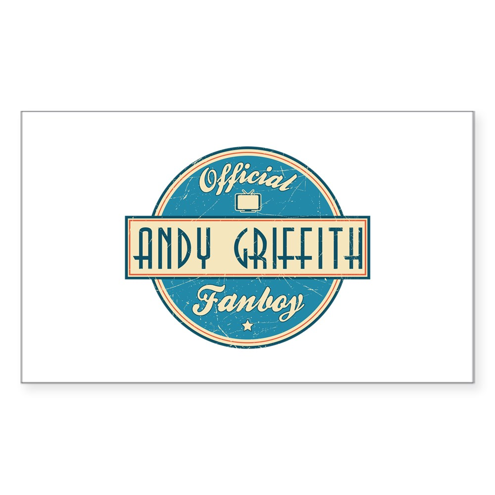 Official Andy Griffith Fanboy Rectangle Sticker