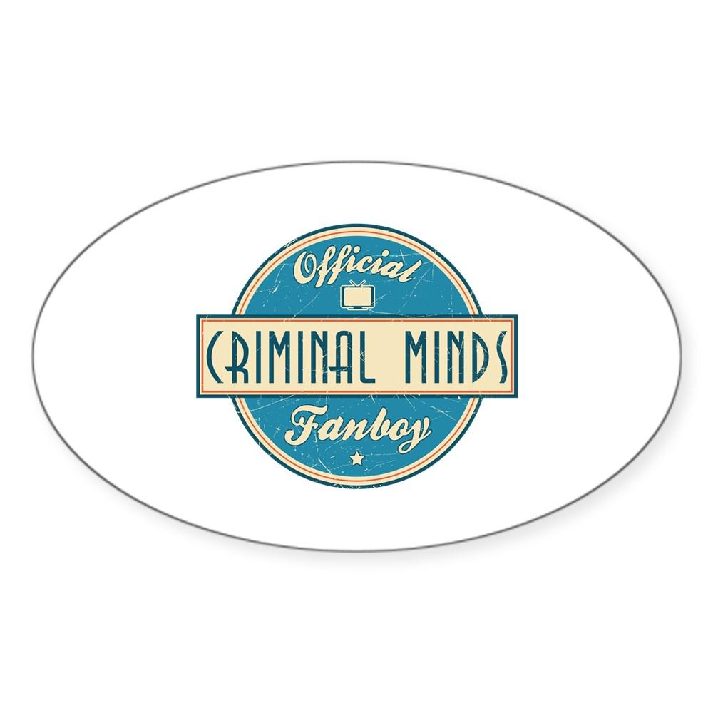 Official Criminal Minds Fanboy Oval Sticker