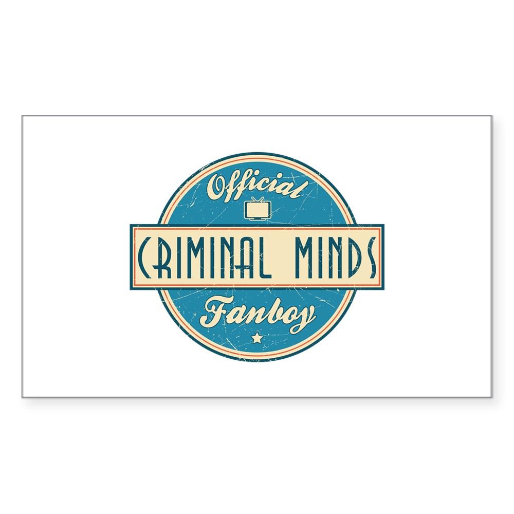 Official Criminal Minds Fanboy Rectangle Sticker